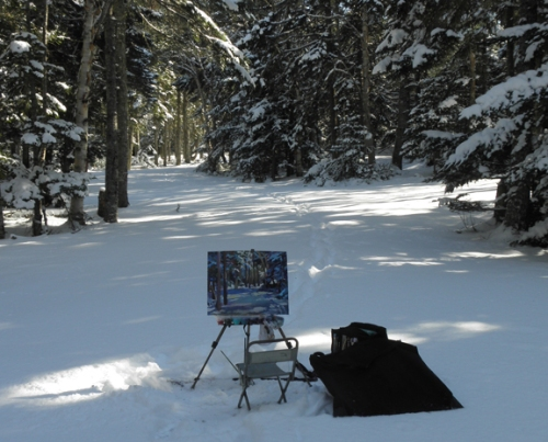 plein air in snow